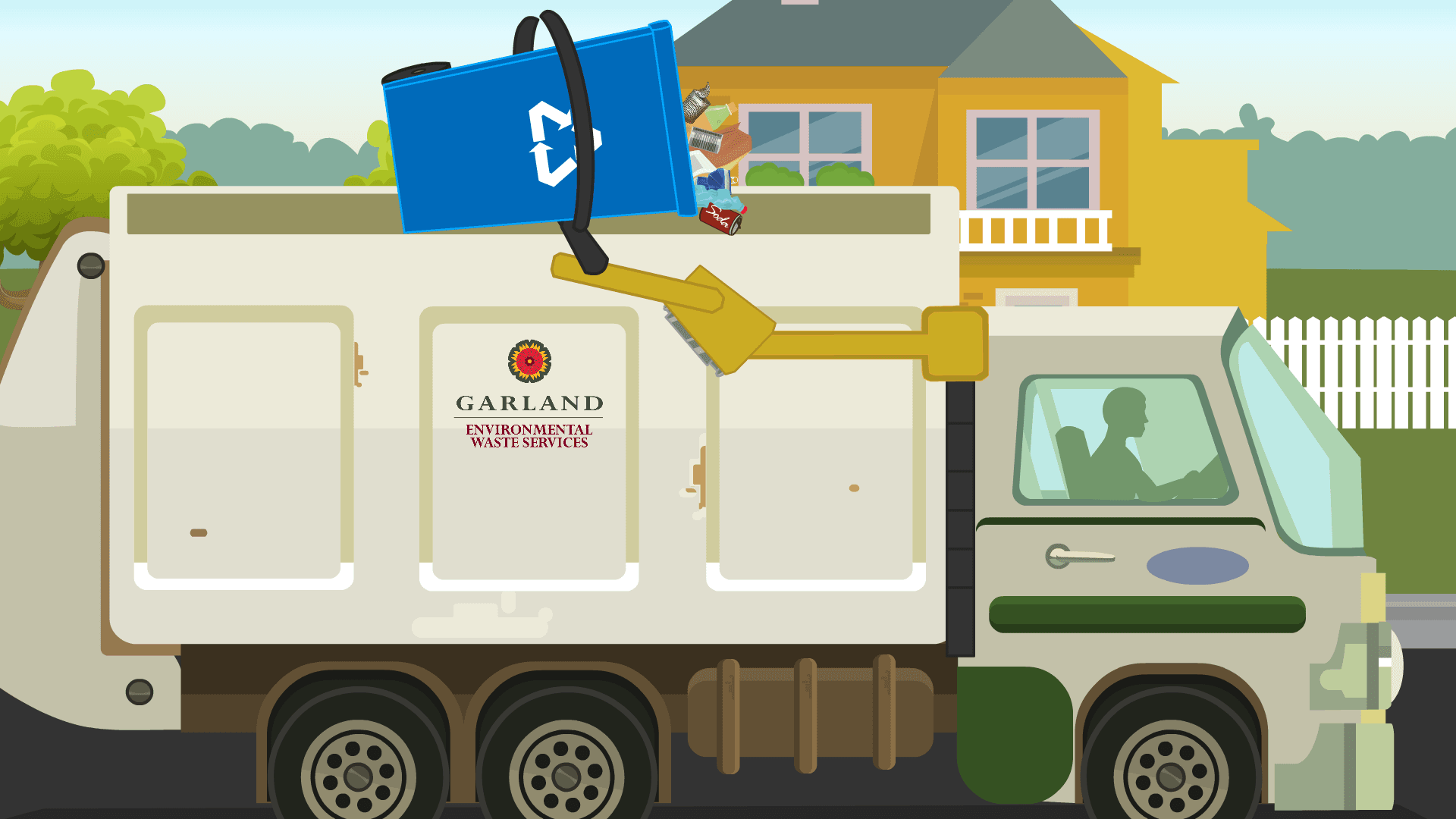 Garland Recycling Truck