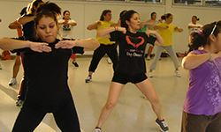 Women exercising with Zumba