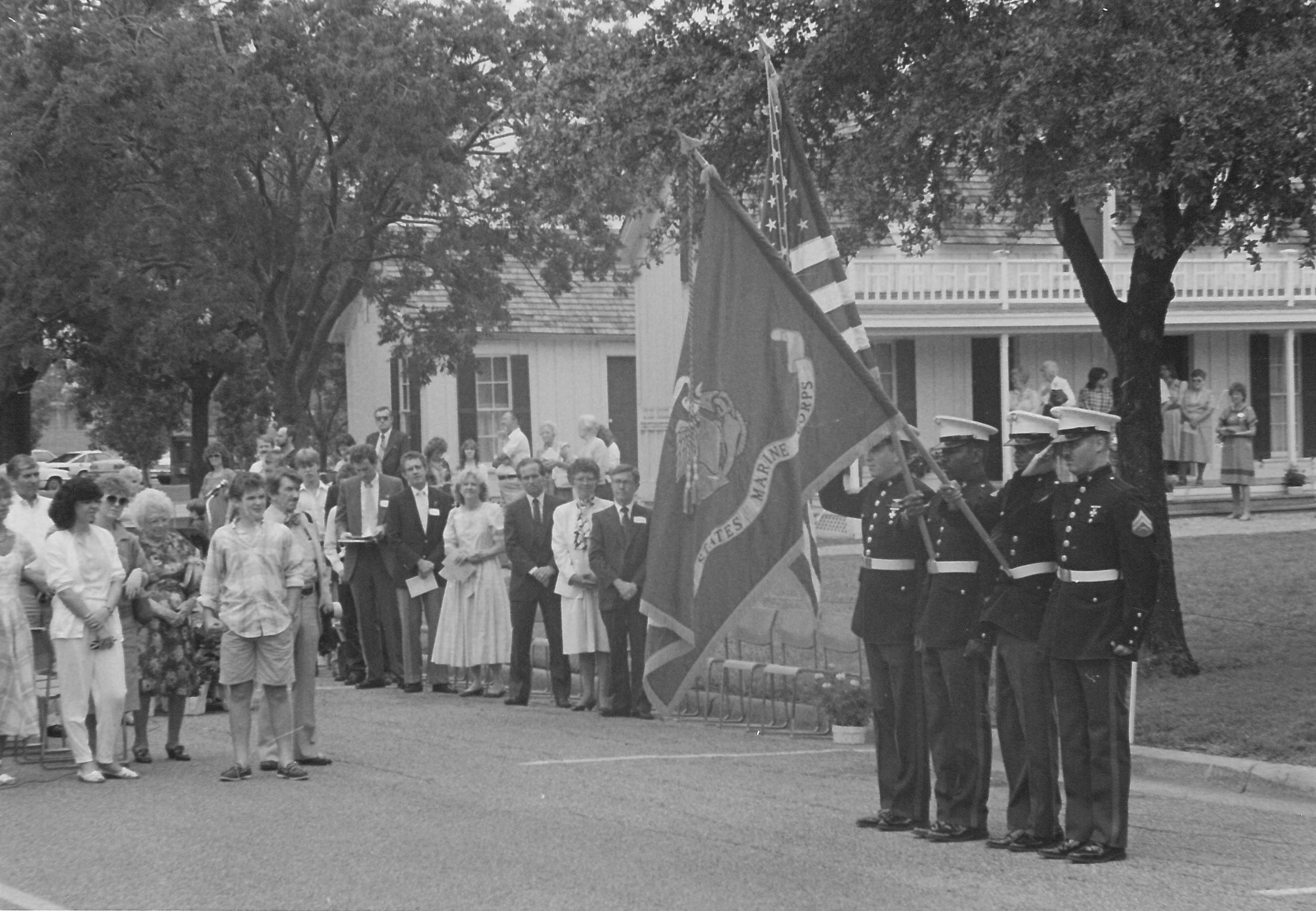 Parade in Front of the Tinsley-Lyles House